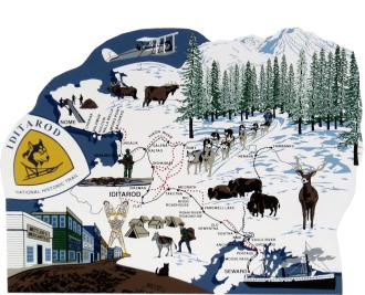 Iditarod National Historic Trail, Alaska, dogsled relay, Nenana to Nome