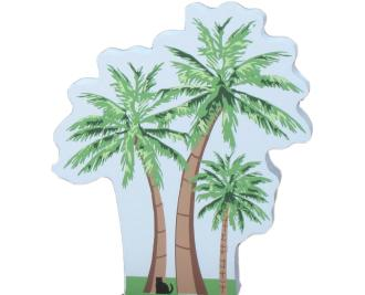 Palm Tree Trio, palm tree, tree, seashore, nautical, ocean,