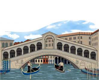 Rialto Bridge, Venice, Italy, Grand Canal