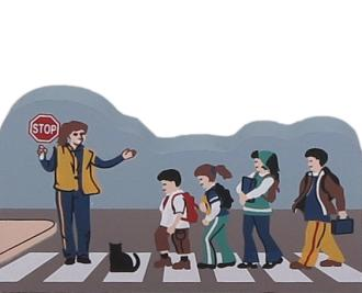 Cat's Meow School Crossing, Crossing Guard