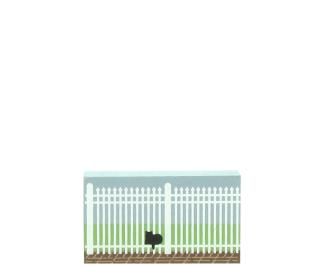"2"" wood fence section to add with Cat's Meow Village houses"