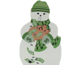 Banker, Financial Consultant, Snowman, Money, Piggybank