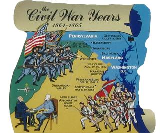 Civil War, Confederate, Union, 1861-1865, Lincoln, Appomattox Court House, Spotsylvania, Fredericksburg, Manassas Junction, Gettysburg