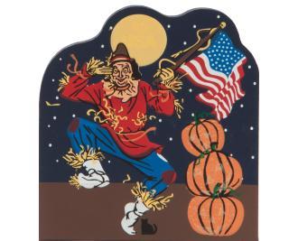 Cat's Meow Halloween Patriotic Scarecrow
