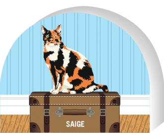 PURRsonalize Me! Calico cat by the Cat's Meow Village