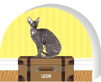 Cornish Rex cat by The Cat's Meow Village, PURRsonalize Me! Item