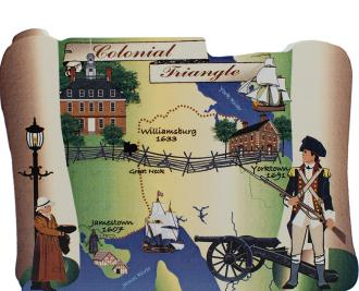 Colonial Triangle, Yorktown, Jamestown, Revolutionary War