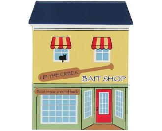 Remember your trip to Lakeside with a handcrafted wooden keepsake of Up the Creek Bait Shop