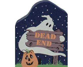 Cat's Meow handcrafted wooden keepsake of a Halloween themed Dead End sign