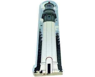 Cat's Meow Village handcrafted wooden replica of Grays Harbor Lighthouse, Washington. Made in the USA.