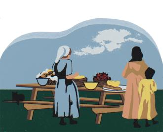 Picnic Time, Amish country Ohio, Amish, Amish picnic