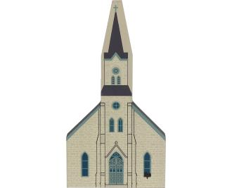 Wooden Cat's Meow Village keepsake of the Immanuel Church