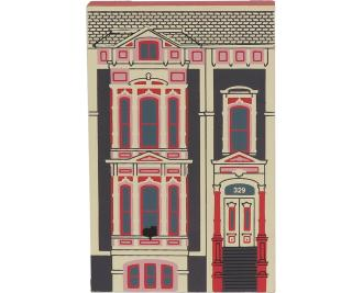 """Vintage Foorman-Morrison House from Series XII handcrafted from 3/4"""" thick wood by The Cat's Meow Village in the USA"""