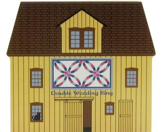 Double Wedding Ring Quilt Barn, quilt, double wedding ring quilt, antiques, Amish