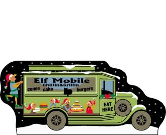Cat's Meow Village North Pole Collection, Elfmobile Food Truck