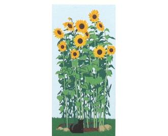 Add these wooden Cat's Meow sunflowers to your Village collection to bring out it's purrsonality.