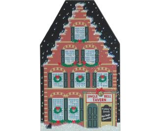 North Pole Jingle Bell Tavern shelf sitter keepsake by The Cat's Meow Village