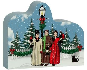 """Mystic Seaport Lantern Light Tour guides recreated in 3/4"""" thick wood, handcrafted for your holiday decor."""