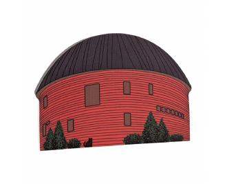"Famous Route 66 Arcadia, Oklahoma Round Barn handcrafted in 3/4"" thick wood by The Cat's Meow Village. Handmade in the USA."