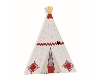 Add this Wigwam Village Motel wooden replica to your home decor to remember the night you spent in a tipi! Handcrafted in the USA by The Cat's Meow Village.