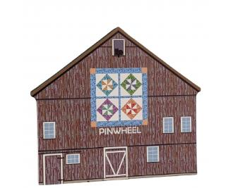 Pinwheel Quilt Barn handcrafted by The Cat's Meow Village and made in the USA.