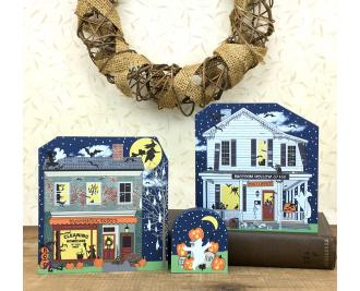 SAVE $3 when you purchase this 2017 Halloween collection as a set. Handcrafted in the USA by The Cat's Meow Village