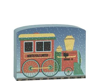 North Pole Limited - Engine #12 to add to your holiday decor. Handcrafted in the USA by The Cat's Meow Village.