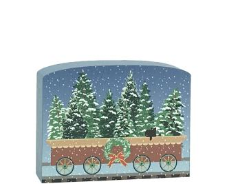 North Pole Limited - Evergreens Car to add to your holiday decor. Handcrafted in the USA by The Cat's Meow Village.
