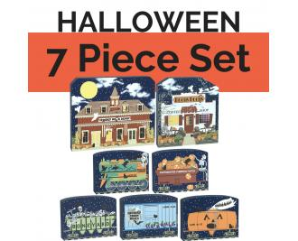Get your paws on all 7 pieces of our Halloween Village and save yourself $7! Handcrafted in the USA by The Cat's Meow Village.