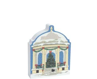 "Your holiday decor will benefit from the addition of this bandstand plus the rest of the Salem Christmas Collection. Handcrafted in 3/4"" thick wood by The Cat's Meow Village in Wooster, Ohio."