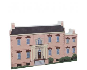 Front of replica of the Olde Pink House, Savannah, Georgia