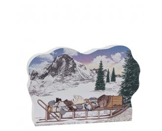 "Klondike Packing Sled,  Handcrafted in 3/4"" thick wood by The Cat's Meow Village in the USA."