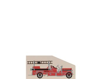 "Vintage 1914 Fire Pumper from Accessories handcrafted from 1/4"" thick wood by The Cat's Meow Village in the USA"