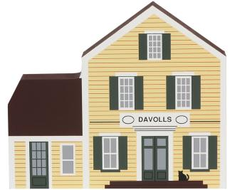Wooden Cat's Meow Village keepsake of Davolls General Store
