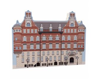 "Beautifully detailed replica of Sherlock Holmes, Scotland Yard, Westminster, London, United Kingdom. Handcrafted in the USA 3/4"" thick wood by Cat's Meow Village."