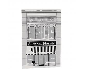 "American Florist, It's A Wonderful Life. Handcrafted in the USA 3/4"" thick wood by Cat's Meow Village."