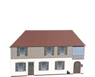 St. Augustine, The Oldest House, González-Alvarez House, Florida. Handcrafted in the USA by Cat's Meow Village.