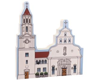 """St. Augustine, Cathedral Basilica, Florida. Handcrafted in the USA 3/4"""" thick wood by Cat's Meow Village."""
