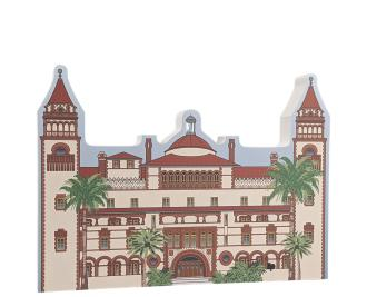 "Flager College, Ponce de Leon Hotel, St. Augustine, Florida. Handcrafted in the USA 3/4"" thick wood by Cat's Meow Village."