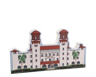 "St. Augustine, Lightner Museum, Alcazar Hotel, Florida. Handcrafted in the USA 3/4"" thick wood by Cat's Meow Village."