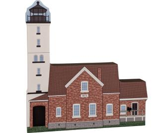 Add this lovely lighthouse replica of Presque Isle Lighthouse, Erie, PA,  to your Cat's Meow Village! Handcrafted in the USA.