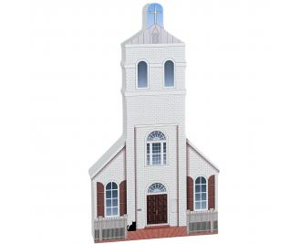 Old Christ Church, Pensacola, Florida.  Handcrafted in the USA by Cat's Meow Village.
