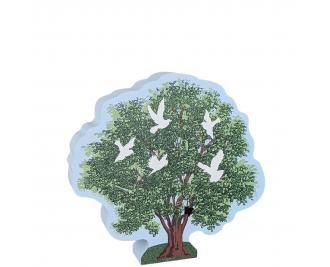 "Tree of Hope and Peace, handcrafted in 3/4"" thick wood by Cat's Meow Village in the USA."