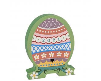 Furbergé Egg, White Daisies 2021.  Handcrafted by Cat's Meow Village in the USA.