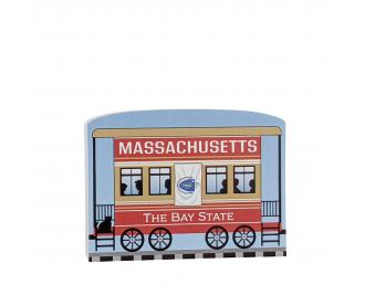 """Add this Maryland train car to your Pride Of America train set to remind you of the good times you had in this state. Handcrafted in 3/4"""" thick wood by The Cat's Meow Village in Wooster, Ohio."""