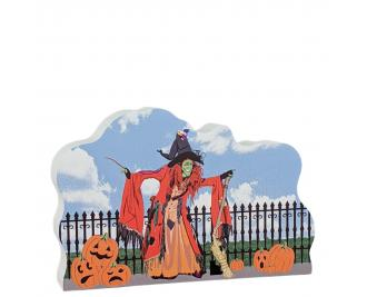 """Borah, Autumn in Salem, Massachusetts. Handcrafted in the USA 3/4"""" thick wood by Cat's Meow Village."""