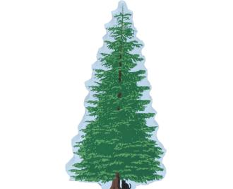 Silver Fir Tree, landscaping for The Cat's Meow Village