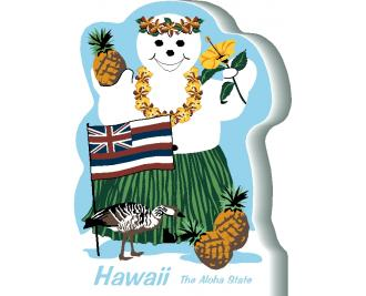 Hawaii State Snowman handcrafted and made in the USA.