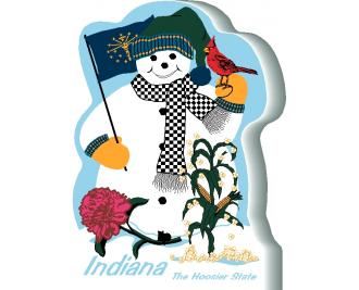 Indiana State Snowman handcrafted and made in the USA.