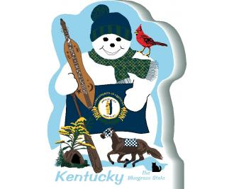 Kentucky State Snowman handcrafted and made in the USA.